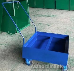 Поддон КРЛ-ПБ передвижной для хранения бочек с жидкостью